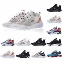 d21a47e5d60d UNDERCOVER X React Element 87 Pack White Epic Running 87 Zapatos Diseñador  de moda Zapatillas de