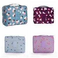 Многофункциональная водонепроницаемая косметическая сумка для макияжа с ручкой Удобная внутренняя карманная сумка для хранения дорожных принадлежностей RRA1067