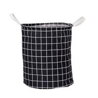 Plegable impermeable de la tela escocesa de la cesta de lavadero de ropa sucia de lavado de ropa Cestas de almacenamiento de la bolsa de juguetes Ropa Organizador Caja de almacenamiento DBC DH1337