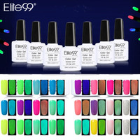 Elite99 Nail Nail Polish Gel Set manucure semi-permanente Couleur LED UV Gel Nails Soak Off 4pcs de kit Night Glow Macaron