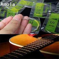6Pcs Corde per chitarra acustica impostata 090 010 011 012 di alta qualità della chitarra 6pcs / set Acoustic Strings QA Series 85/15 Bronzo Versione brillante tono