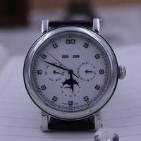 뜨거운 판매 자동 복잡한 시계 DJ6212 브라운 다이얼 다이빙 시계 망 가죽 밴드는 PP209을 손목 시계