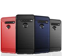 Carbon Fiber Texture Slim Armor Brushed TPU CASE COVER FOR LG G8S ThinQ W10 W30 Pixel 4 Pixel 4 XL 1000PCS/LOT CRexpress