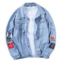 Marka Erkekler Ceket Kaban Yeni Denim Ceketler Erkekler En Kaliteli Moda Erkek Jean Bombacı Ceket Pamuk Dış Giyim Erkek Kovboy Hiphop Boyutu S-5XL