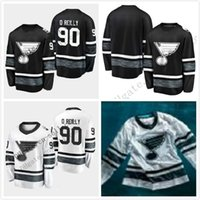 Pas cher 2019 All Star Jerseys Hommes 90 Ryan OReilly St. Louis Blues Noir Blanc Blanc Top Qualité Hommes 2019 All-Star Patch Maillot De Hockey
