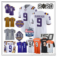 NCAA 2020 Peach Bowl LSU Tigers Champion Jersey Joe Burrow Burreaux Beckham Jr. Grant-Delpi Kristian Fulton Billy Cannon Chase Fournette