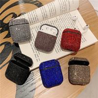 제품과 함께 헤드셋을 충전 애플 블루투스 무선에 대한 다이아몬드 에어 팟 케이스 블링 이어폰 전체 커버 수호자 헤드폰 가방