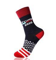 Donald Trump presidente estadounidense Calcetines 2020 Estrellas Stripped calcetín de algodón Media unisex Calcetines 4 estilos KKA7816