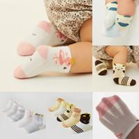5 пар детские напольные носки унисекс дышащие носки мультфильм новорожденный хлопок мягкие тапочки обувь сапоги 0-5Years