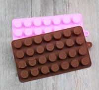 الشوكولاته العفن سيليكون جديد 28 حتى QQ شخصية التعبير الجليد نموذج الرسوم المتحركة لطيف DIY سيليكون قالب 50PCS DHL مجاني / فيديكس