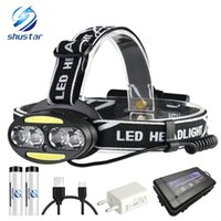 Super bright LED headlamp 4xT6 + 2xCOB + 2xRed LED 15000 lum...
