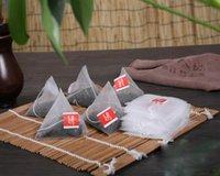 10000Pcs / Lot новая пирамида нейлон чайные пакетики пустые прозрачные чайные пакетики с фильтром строки чайный пакетик
