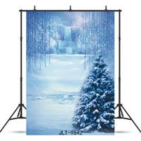 coberto de neve cênica fundo da fotografia de vinil para o chuveiro crianças bebê recém-nascido cenário photocall