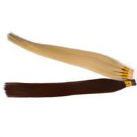 100% Menschenhaar-Verlängerungs-Stick-I Spitze Haar 0,5 g / s100g 200Strands 14-24 Zoll gerades indische remy Haarfarbe Option