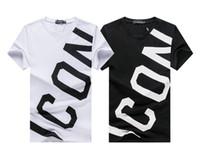 Lettera nuova icona di stile di marea di marca degli uomini cotone casuale maglietta dipingere Reverse cursore Slim Snake T-Shirt di alta qualità di lusso magliette casual Tees