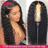 30 pulgadas rizada peluca humana peluca 4x4 encaje cierre peluca peruano remy cabello 13x6 hd encaje frontal frontal humano