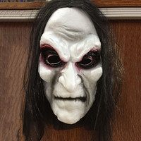 Scary Black Long Hair Blooding Ghost Mask Cosplay Costumi di Halloween Partito Prop