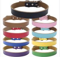 9 colori 4 formati di alta qualità caldo puro pelle bovina collare per animali in vera pelle cane addensamento catena di trazione corda accessori per cani 100 pz