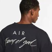 남성 여성 브랜드 협업 디자이너 T 셔츠 캐주얼 저지 셔츠 힙합 스케이트 보드에 대한 하나님 T 셔츠 FOG 특대 티의 20SS NRG AIR 공포