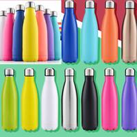 500 мл кола в форме бутылки изолированные двойные вакуумные вакуумные с высокой яркости бутылка воды творческий термос бутылка кокса чашки кокса по морю HH7-807