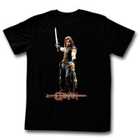 2019 nouveaux tee-shirts cheapTee Shirts Hommes T-shirts O-Neck T-shirts Shirt Conan The Barbarian C'est une belette? Tee shirt Homme - Noir T-shirt Homme