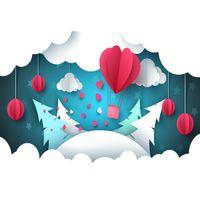 Antecedentes de Navidad de los corazones de la nube decoración de tela de vinilo Fotografía Estudio Telón de fondo para los niños recién nacidos del bebé Photocall