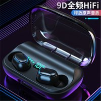 Cuffie T11 TWS senza fili Bluetooth 5.0 auricolare in-ear 3300mAh carica bin Stereo auricolari IPX7 impermeabile di sport Headset