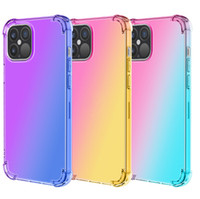 Gradient Colors Anti Shock Airbag Clear Cases For iPhone 12 ...