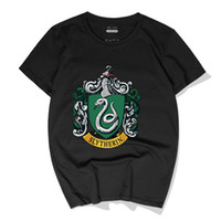 Casual Men T- Shirts Harry Potter Slytherin Cotton Tees Tops ...