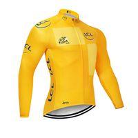 Tour de فرنسا فريق جديد نمط الدراجة الجبلية mtb كم طويل ركوب الدراجات جيرسي الرجال دراجة قميص الملابس الدراجة الجبلية