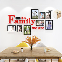 Creative Family photo Acrylic wall stickers for Kids room Li...