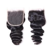 Brasilianischer Jungfrau-Haar-Webart-Bündel mit Verschluss 100% Remy Menschenhaar-8A Brazillian lösen Welle wellenförmige lockiges Haar 3Pcs und Spitze Verschluss Dye