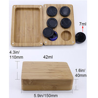 Four types Bamboo wooden silicone container tobacco box herb...