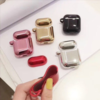 Für AirPods Fall Luxus Vergoldung TPU soft Cover Bluetooth Drahtlose Kopfhörer Fall für iPhone Kopfhörer Air pods 2 Lade Box