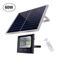 60W Открытый безопасности Светится Водонепроницаемый IP65 Solar Power LED Flood Light с кнопкой включения / выключения дистанционного управления для Yard, Сад, Бассейн, Тропинка, Deck
