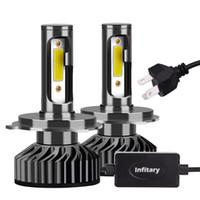 2 Adet Parçası Oto Aydınlatma Sistemi Araba Işık Lamba Far Ampul H4 LED
