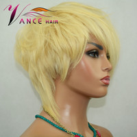Vancehair 613# full lace Human Hair Wigs Short Hair Pixie Cu...