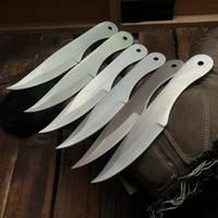 6pcs Üst Kalite Survival Düz Bıçak paslanmaz çelik 56HRC beyaz Blade Açık Kamp Yürüyüş Avcılık Bıçak Açık uygulama Bıçaklar