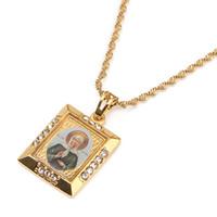 روسيا المباركة من موسكو قلادة القلائد الكاثوليكية الأرثوذكسية الكنيسة العذراء مريم أوكرانيا المجوهرات