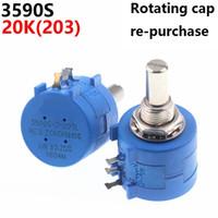 3590S 20K 203 Precision Multiturn Potentiometer Resistência ajustável