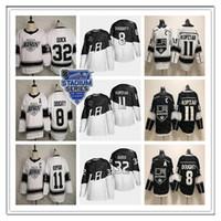 الرجال لوس انجليس LA الملوك 2020 ملعب سلسلة الفانيلة 11 أنزه كوبيتار 8 درو دوتي 32 جوناثان كويك أليك مارتينيز Gretzky أسود أبيض