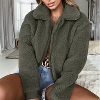 여성 패션 겨울 코트 무성한 풀숲 가짜 모피 따뜻한 코트 가디건 자켓 레이디 캐주얼 착실히 보내다 판매