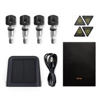 블랙 - 4 내장 센서 충전 70mai TPMS 타이어 압력 모니터 태양 광 발전 듀얼 USB