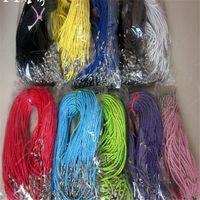 Многоцветная Кожа Веревка цепи ожерелья для женщин Мужчины шнура DIY ювелирных изделия 100шт Lot Woven ожерелье SF2