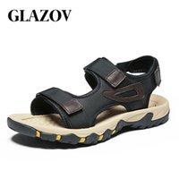 Glazov Schuhe Herren-Schuhe Qualitäts-Ineinander greifen Männer Sandalen Sommer Herren Schuhe Strand-Sandelholz-Fashion Outdoor-zufällige Turnschuhe Größe 47