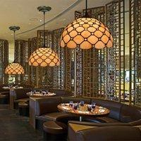 12 인치 북유럽 펜던트 램프 미니멀 침실 티파니 빈티지 빛 레스토랑 카페 이닝 룸에 매달려 조명