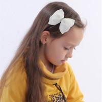 진주 더블 레이어 헤어 클립 소녀 패션 부티크 머리핀 어린이 Bowknot Barrette 아기 헤어 액세서리 아이 나비 넥타이 모자 VT1645
