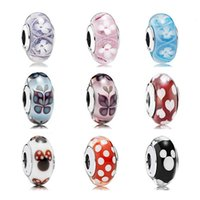Fits Pandora Charms Bracelets glass Beads 100% Authentic 925...