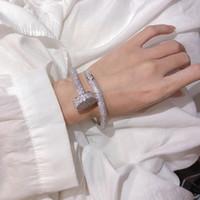 Heißer Verkauf Schraube Volle Bohrer Nägel Armband Gold Armbänder Frauen Armreifen Punk Für Beste Geschenk Luxuriöse Überlegene Qualitätsschmuck