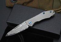 Mini stripeTitanium Griff Damaskus Schlüsselanhänger Taschenmesser Kugellagertasche Falten Schlüsselbund für Mann ker Geschenkmesser
